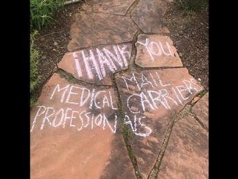 Appreciation on the sidewalk!