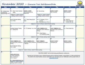 November At-A-Glance (Revised)