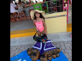 Cozumel with her family this summer