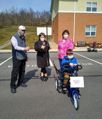 Mark and his sponsored Bike by Fraternal Order of Eagles.