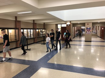 """Connections students engage in """"Scavenger Hunt"""" for team building"""