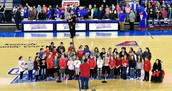So incredibly proud of our students for performing the National Anthem!  Thank you, Mr. Presti for organizing this!