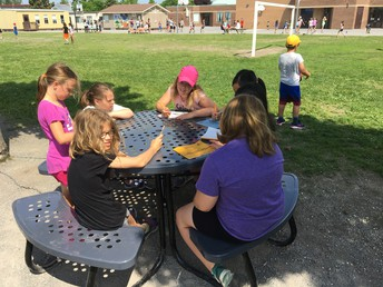 Ms. Hearn's Buddy Table helps strengthen friendships every recess : )