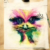 Boho colour watercolour painting