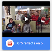 Grade 5 reflects on One Book, One School, Every Month
