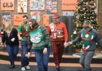 Middle School Staff Gives BIG Farewell to Students!