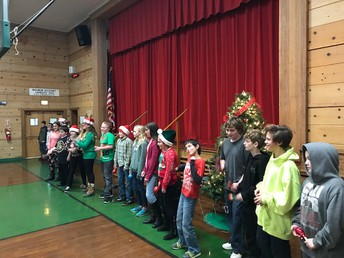 6th graders singing for us!