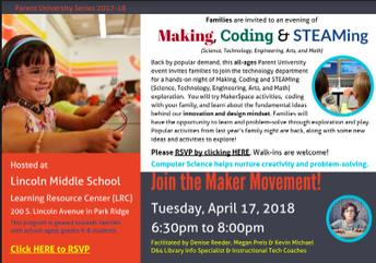 Making, Coding & STEAMing Parent University