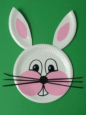 Make a paper plate bunny