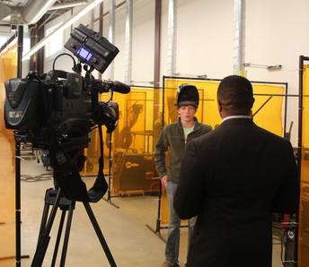 Local TV Highlights high school CTE Programs