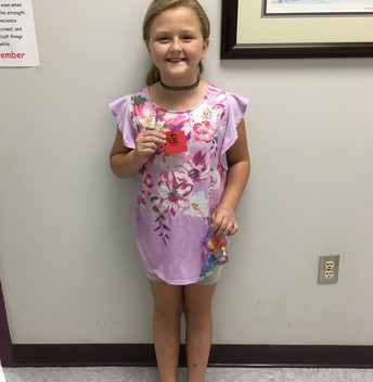 Madi earned a Red Raider prize!
