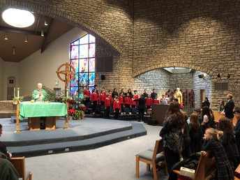 French Choir at Mass