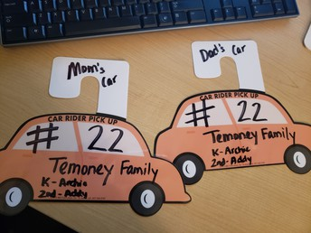 Car Tags for Dismissal