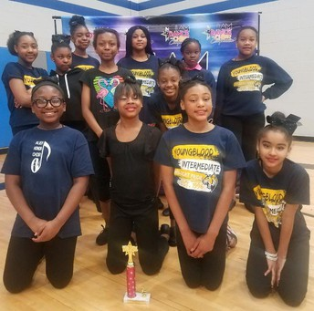 The Youngblood Intermediate School Dance Team won second place at the I Am Dance & Cheer Competition.