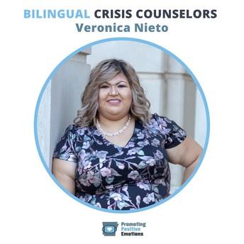 Veronica Nieto, Bilingual Crisis Counselor