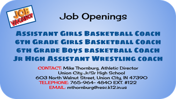 Winter Coaching Positions Openings