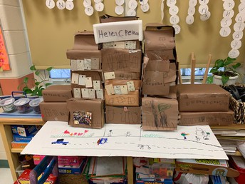 The PK students in 122 built Peirce School!
