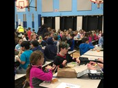 Students enjoying lunch