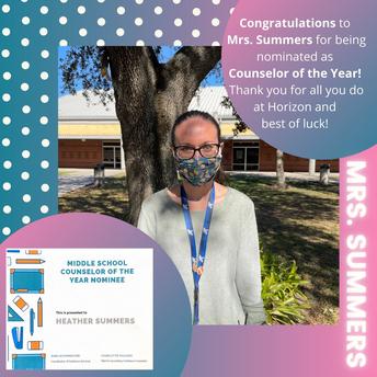 Congratulations Mrs. Summers!!