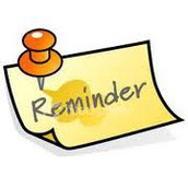 Reminders from the Registrar