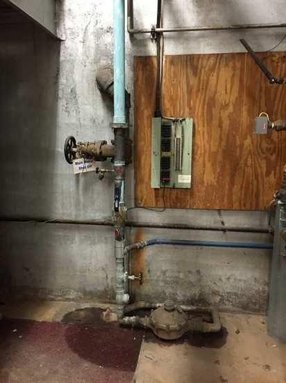 Chardon High School:  decaying of copper solder joints and fittings slowing the sealing off of water.