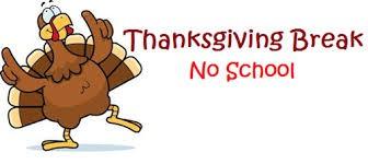 No School - 11/27, 11/28 & 11/29