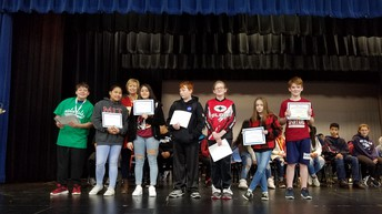 Our Geography Bee participants were (left to right):