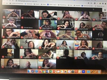 Virtual Staff Meeting ending with much LOVE!