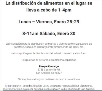 REPARTO DE COMIDA DEL BANCO DE ALIMENTOS DE SAN ANTONIO