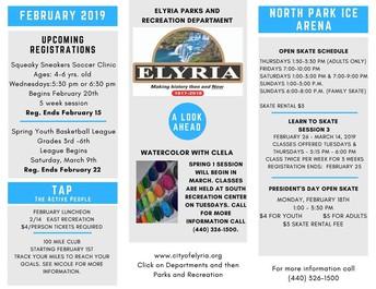 Elyria Parks and Rec Programs
