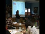 Mrs. Villescas presents information on STAAR Test.
