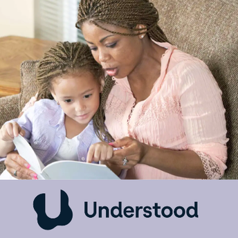 Image of mother reading with toddler