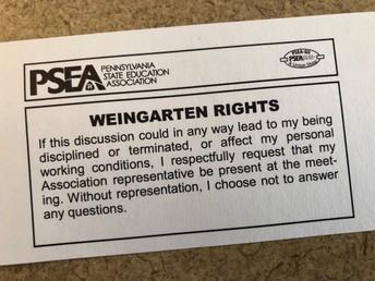 Weingarten Rights: use them!