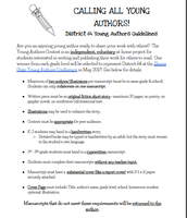 Young Author Information