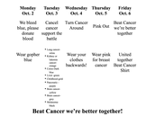 Beat Cancer Week @ GPHS