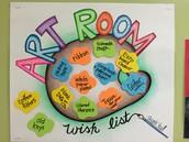 Art Room/Club Wish List