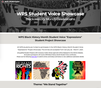 "Celebrating Black History Month : Student Voice ""Impressions"" Showcase"