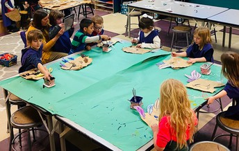 Student Records Classmates in Art Class