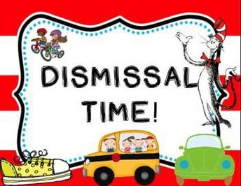 Change in Dismissal Reminder: