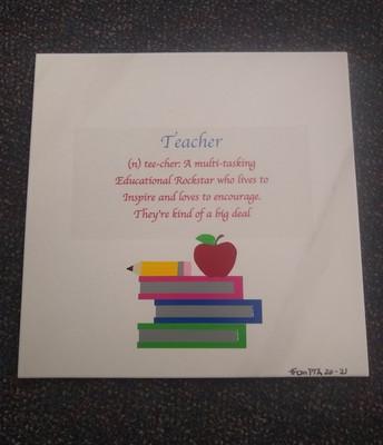 TEACHER APPRECIATION TILES  from PTA