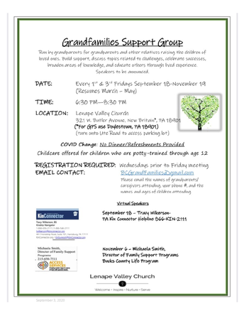 GRANDFAMILIES SUPPORT GROUP
