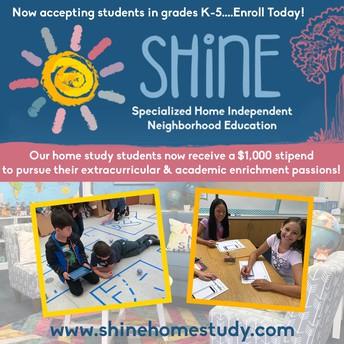 SHINE ahora ofrece un estipendio de $ 1,000 para que los estudiantes sigan sus pasatiempos de enriquecimiento académico y extracurricular