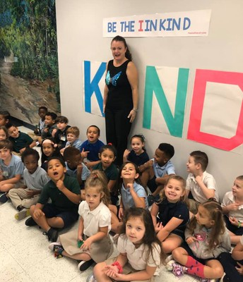 """Students and Staff at Rivers Edge Elementary Celebrated Kindness Week by being the """"I"""" in KIND and participating in daily acts of kindness."""