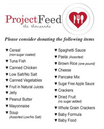 Project Feed the Thousands Food Drive is Underway
