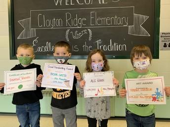Preschool January Awards