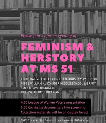 Feminism & Women's History CCD Open House flier