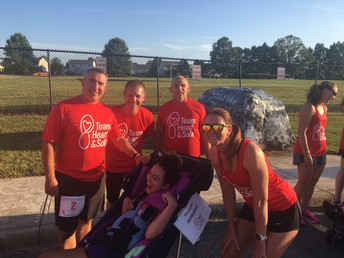Mr. Nickel, Mr. McIlwain, and Mr. Ey ran with Central student Adrianna Lyons at the Game Day 5k event held August 9. Team Heart & Sole champions were a big part of this event.