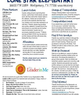 Info Sheet page 1