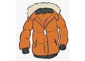 brown Winter Coat with hood clipart