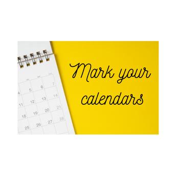 Marque sus calendarios:
